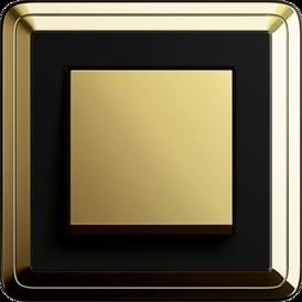Gira ClassiX brass + black, touch switch brass