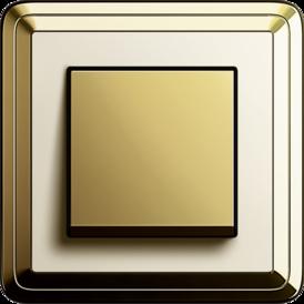 Gira ClassiX brass + cream white, touch switch brass