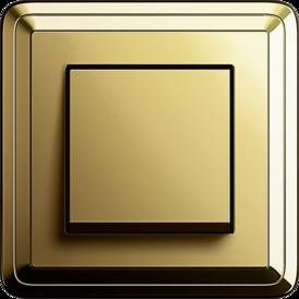 Gira ClassiX Art brass + cream white, touch switch brass