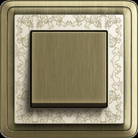 Gira ClassiX Art bronze + cream white, touch switch bronze