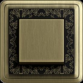 Gira ClassiX Art bronze + black, touch switch bronze
