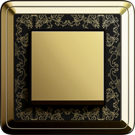Gira ClassiX Art brass + black, touch switch brass