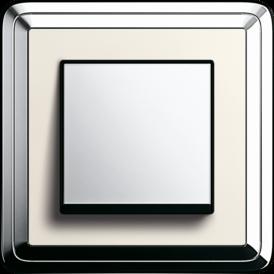 Gira ClassiX chrome + cream white, touch switch, chrome