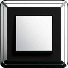 Gira ClassiX chrome + black, touch switch, chrome